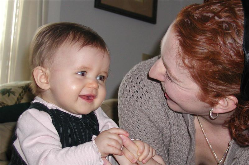 Molly and Mommy telling funny jokes.