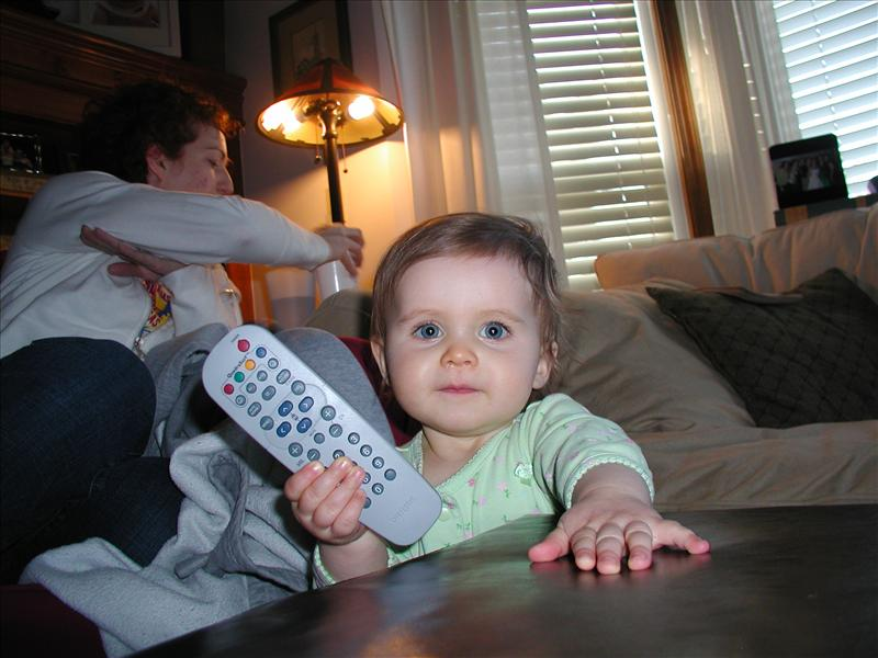 The perfect crime, I got the remote and no one knows :)
