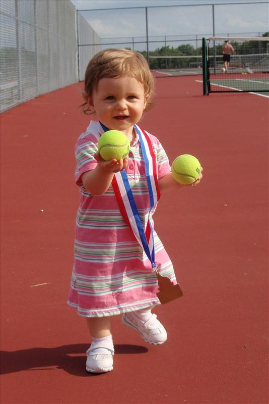 Our little tennis champion!