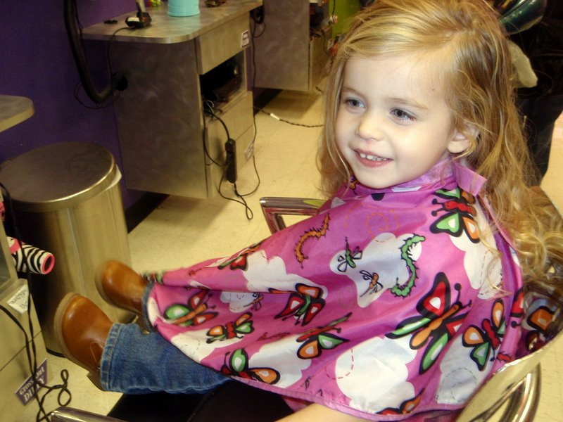 Molly's first hair cut ... at 3 and a half years old :)