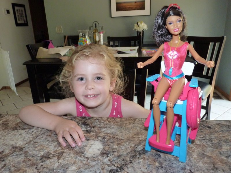 Thanks for the cool new Barbie, Aunt Amber!