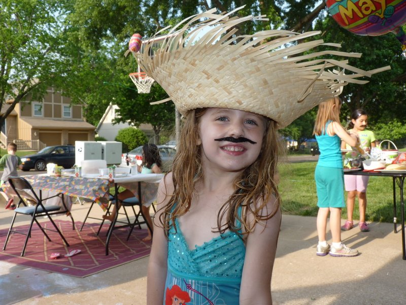 Having a good time at the Cinco De Mayo party!