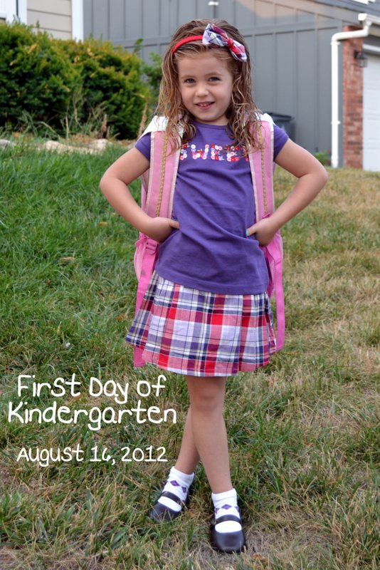1st Day of Kindergarten!!!