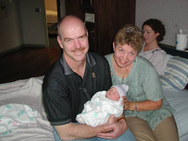 Molly with her grandparents