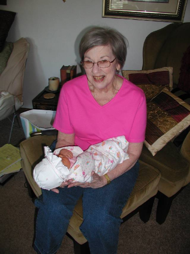 Molly with her Great Grandma Lafferty, sporting her new haircut (Grandma not Molly that is)