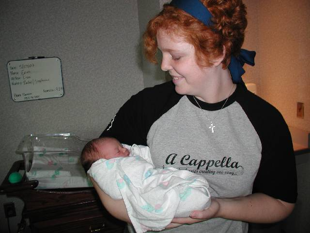 Aunt Sarah with Molly.